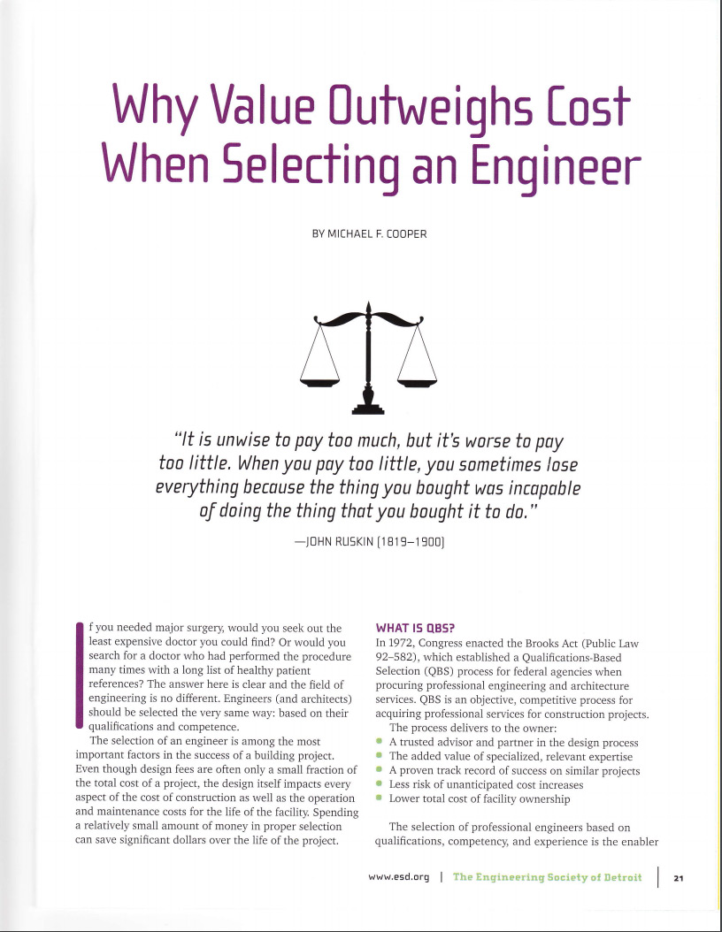 Why Value Outweighs Cost When Selecting an Engineer